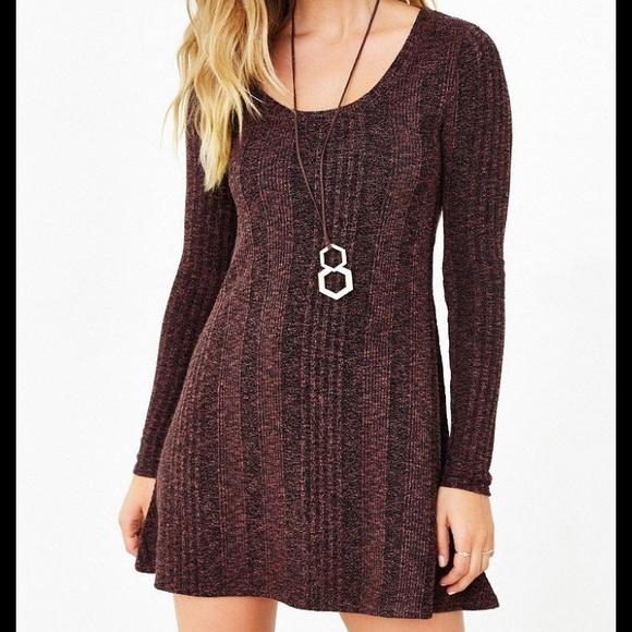 UO BDG camp sweater dress in brown